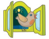 Kuckuckvogel von der Kuckucksuhr stock abbildung