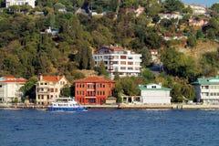 Kucuksu, Istanbul. Waterside residences along Bosbhorus Sea Stock Image