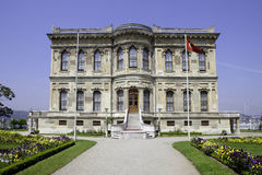 Kucuksu Palace in Istanbul. Exterior front view of Kucuksu Palace in Istanbul City, Turkey Stock Images