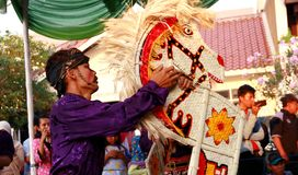 Kuda die Dans samenvoegen Royalty-vrije Stock Foto
