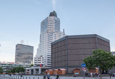 Kudamm Berlin Germany. Modern buildings in Kurfürstendamm, Berlin, Germany Stock Images