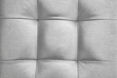 Kudde eller kudde eller Puff Backgroun för läder för silverfärg naturlig Fotografering för Bildbyråer