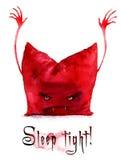 Kudde räkningen Dracula stock illustrationer