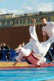 Kudo fighter made throw Royalty Free Stock Image