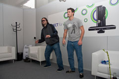 Kudo Tsunoda and Kinect at GamesCom 2010 Stock Images