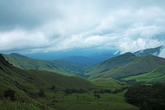Kudremukh Peak. One of the Most Highest peak of Western Ghats. The Great Kudremukh of Karnataka State stock photography