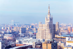Kudrinskaya Square Building in Moscow, Russia. Stock Photography