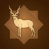 Kudu standing graphic vector Royalty Free Stock Photo