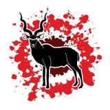 Kudu standing graphic vector Stock Image