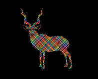 Kudu standing graphic vector Royalty Free Stock Photos