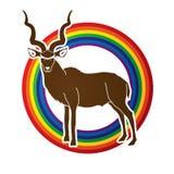 Kudu standing graphic vector. Stock Image