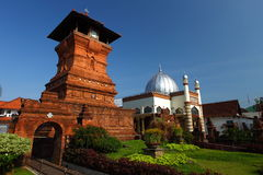 Kudus Mosque Tower Wide Angle Stock Photos