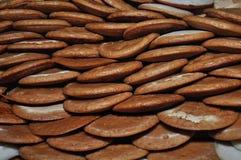 Kue Apem Kuchen machten vom Reismehl und haben eine Bienenwabe wie Beschaffenheit stockfotos