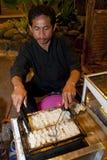 Kue Pancong ein traditioneller Nachtisch Indonesien Stockfotografie
