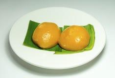 Kueh Nyonya or Nyonya Pastry. Malaysian Food. Kueh Nyonya or Nyonya Pastry on banana leaves Royalty Free Stock Photo