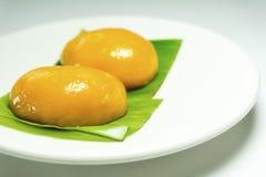 Kueh Nyonya or Nyonya Pastry. Malaysian Food. Kueh Nyonya or Nyonya Pastry on banana leaves Royalty Free Stock Photography