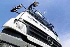 Free Kuehne + Nagel Truck Royalty Free Stock Photo - 115662365