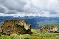 Kuelap is a mountaintop fortress city near Chachapoyas, Peru, Stock Images