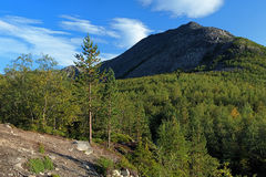 Kuelporr Mount in Khibiny Mountains Stock Photography