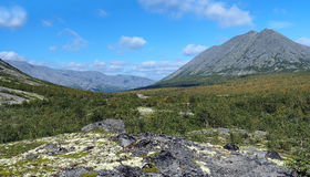 Kuelporr Mount in Khibiny Mountains Royalty Free Stock Photo