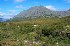 Kuelporr Mount in Khibiny Mountains Royalty Free Stock Photography