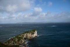 Kueste Antrim bei Burg Kinbane. In Nord-Irland royalty free stock photo