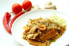 Kuey frito sabroso Teow Imagenes de archivo