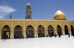 Kufa Mosque. Kufa, Najaf, Iraq – May 31 2014: It is one of the oldest mosques in the Islamic Iraq, for Shiite community in Iraq and the world. And royalty free stock images