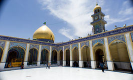 Kufa Mosque. Kufa, Najaf, Iraq – May 31 2014: It is one of the oldest mosques in the Islamic Iraq, for Shiite community in Iraq and the world. And currently Stock Photos