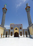 Kufa Mosque. Kufa, Najaf, Iraq – May 31 2014: It is one of the oldest mosques in the Islamic Iraq, for Shiite community in Iraq and the world. And currently Royalty Free Stock Photos