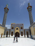 Kufa Mosque. Kufa, Najaf, Iraq – May 31 2014: It is one of the oldest mosques in the Islamic Iraq, for Shiite community in Iraq and the world. And currently Royalty Free Stock Images