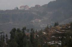 Snow fall at Kufri near Shimla, India