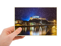 Kufstein Austria photography in hand Stock Images
