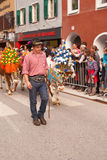 Kufstein / Austria / Tirol-September 19: farmer with Decorated c Royalty Free Stock Photos