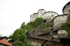 Kufstein - Elevator To The Castle Fortress Stock Photography