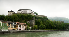 Kufstein - fortress over Inn Royalty Free Stock Photography