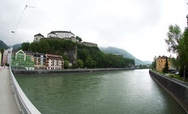 Kufstein - fortress over Inn Stock Photography