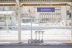 Kufstein plattform Arkivbilder