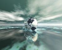 Kugel 3D auf Wasser Lizenzfreies Stockfoto