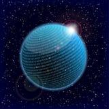 Kugel der binären Daten Stockbild