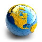 Kugel der Erde mit Entlastung Lizenzfreies Stockbild
