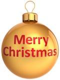 Kugel der frohen Weihnachten (Mieten) Lizenzfreie Stockfotografie
