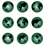 Kugel der Welt in der unterschiedlichen Stellung Stockbild
