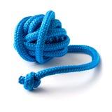 Kugel des blauen gymnastischen Seils Stockfotos