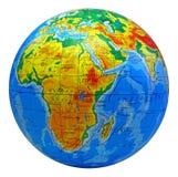 Kugel, in einem Mittelafrika Stockbild