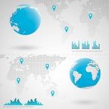 Kugel-Erde infographic Stockfotos