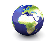 Kugel - Europa, Afrika lizenzfreie abbildung