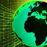 Kugel Europas Afrika zeigt global globales und europäisch an Lizenzfreies Stockfoto