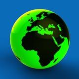 Kugel Europas Afrika zeigt Weltländer und global Lizenzfreie Stockfotos