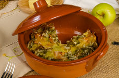 Kugel, festive meal Stock Images